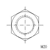 nuts hexagonal bs3692 free cad blocks M8 Socket Dimensions m20 view 3